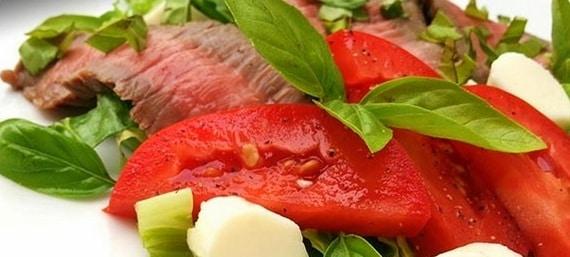 Flank Steak and Caprese Salad